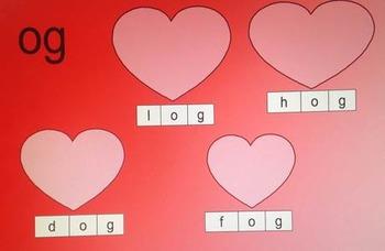 Valentine Short Vowel Blends