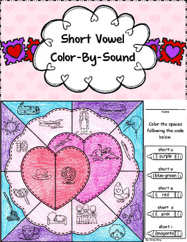 Valentine Short Vowel Color-By-Sound