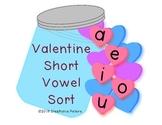 Valentine Short Vowel Word Sort Word Work