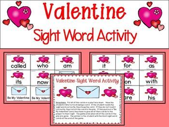 Valentine Sight Word Activity