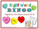 Valentine Sight Word Bingo Games Aligned to Journeys Lessons 15-20