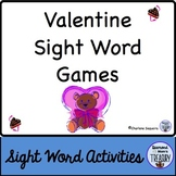 Valentine Sight Word Games
