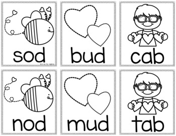 Valentine's Day Sight Word & CVC Word Games (Editable)