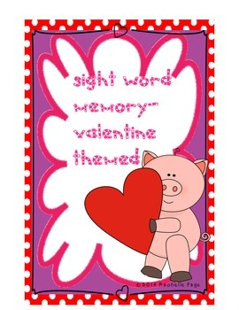 Valentine Sight Word Memory/Concentration