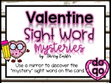 Valentine Sight Word Mirror Mysteries