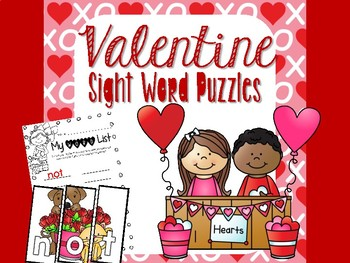 Valentine Sight Word Puzzles
