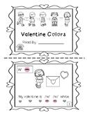 Valentine Colors~ Sight Word Sound Reader