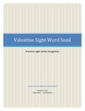 Valentine Sight Word Snail
