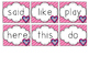 Valentine Sight Words