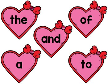 Valentine Sight Words: A Monthly Word Work Centre {Editable}