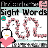 Valentine's Sight Words Grade 2
