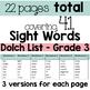 Valentine's Day Sight Words {THIRD GRADE}  {Print & Go} or {Literacy Center}