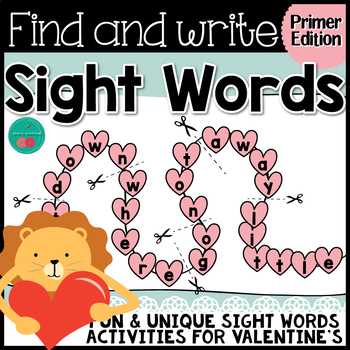 Valentine's Day Sight Words {PRIMER}  {Print & Go} or {Literacy Center}