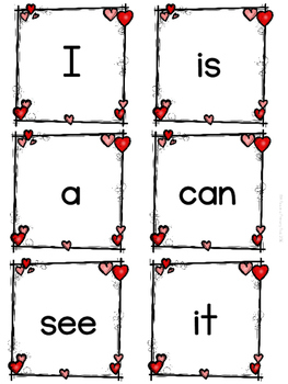 Valentine Sight Words Write the Room