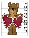 Valentine Skip Count by 10 Puzzles