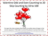 Valentine Skip Counting Cut And Glue
