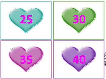 Valentine Skip count by 5's