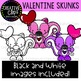 Valentine Skunks: Valentine Clipart {Creative Clips Clipart}
