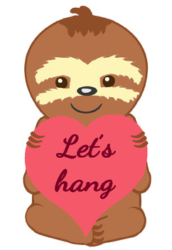 FREEBIE - Valentine Sloth Clip Art