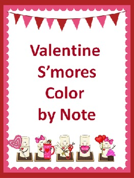 Valentine S'mores Color by Note