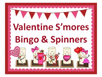 Valentine Smores Spinners and Bingo