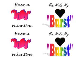 Valentine Snack Cards