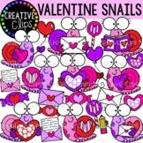 Valentine Snail Clipart {Valentine Clipart}