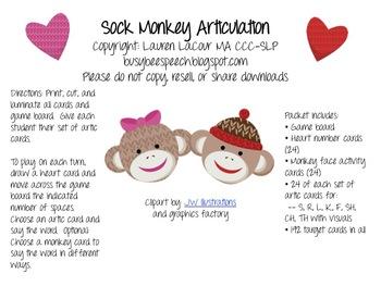Valentine Sock Monkey Articulation