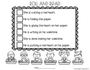 Valentine Soft Dice Literacy Center