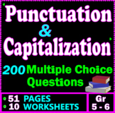 Capitalization and Punctuation Practice. 200 Multiple Choice Questions. Gr 5-6