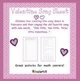Valentine Math - Counting Sets Song Sheet