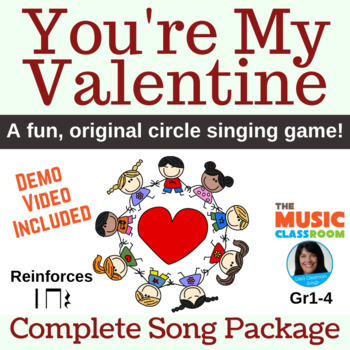 "Valentine's Day Song | ""You're My Valentine"" Circle Game 