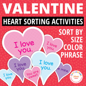 Valentine's Day Sorting Hearts: Valentine's Day Early Math Activities for ECE
