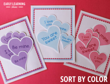 Valentine's Day Activities | Valentine's Day Sorting Hearts