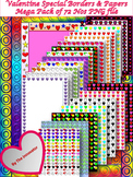 Valentine Special Borders &  Papers Mega Pack