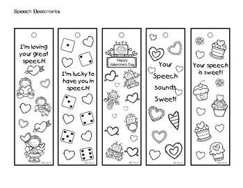 Valentine Speech Bookmarks