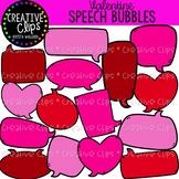 Valentine Speech Bubbles: Valentine Clipart {Creative Clip