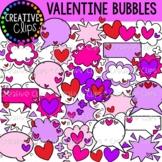 Valentine Speech Bubbles and Bursts {Valentine Clipart}