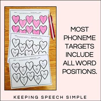 Valentine's Day Speech Therapy- No Prep Articulation