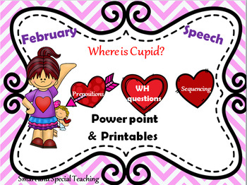 Valentine's Day Speech Therapy Powerpoint and Printables Mega Pack