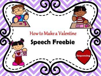Valentine's Day Speech Therapy Freebie