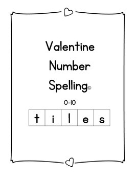 Valentine Spelling Tiles