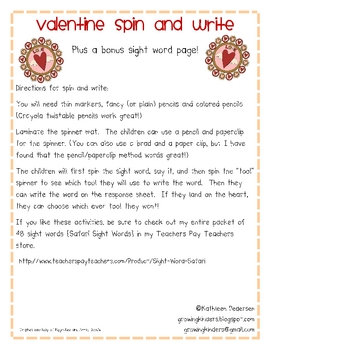 Valentine Spin and Write
