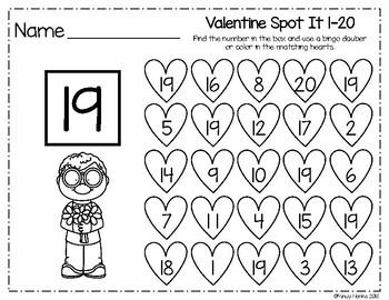 Valentine Spot It 1-20