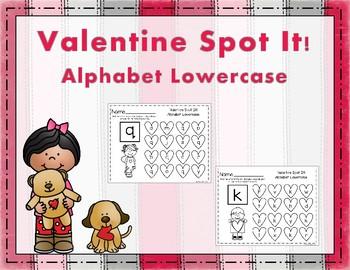Valentine Spot It Alphabet Lowercase
