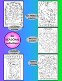 Valentine, St. Patrick's, Easter, Spring, Summer Activity Coloring Pages BUNDLE