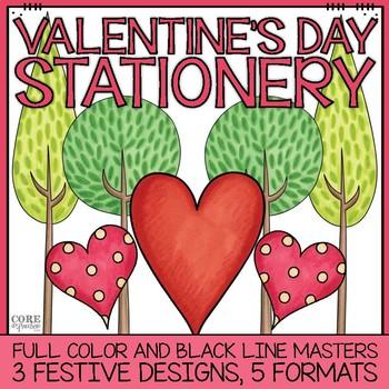 February & Valentine's Day Stationery Printable Pack