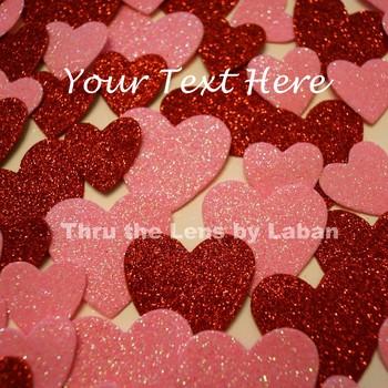 Valentine's Day Glitter Hearts Stock Photo #33