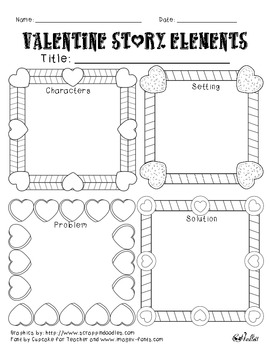Valentine Story Elements Graphic Organizer