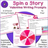 Story Spinner - Valentine Writing Prompts and Discussion Q
